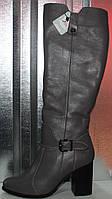 Сапоги женские зимние кожаные на каблуке от производителя модель РИ80-8, фото 1