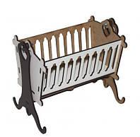 Кровать-люлька деревянная для кукол 7Toys (TC038068)