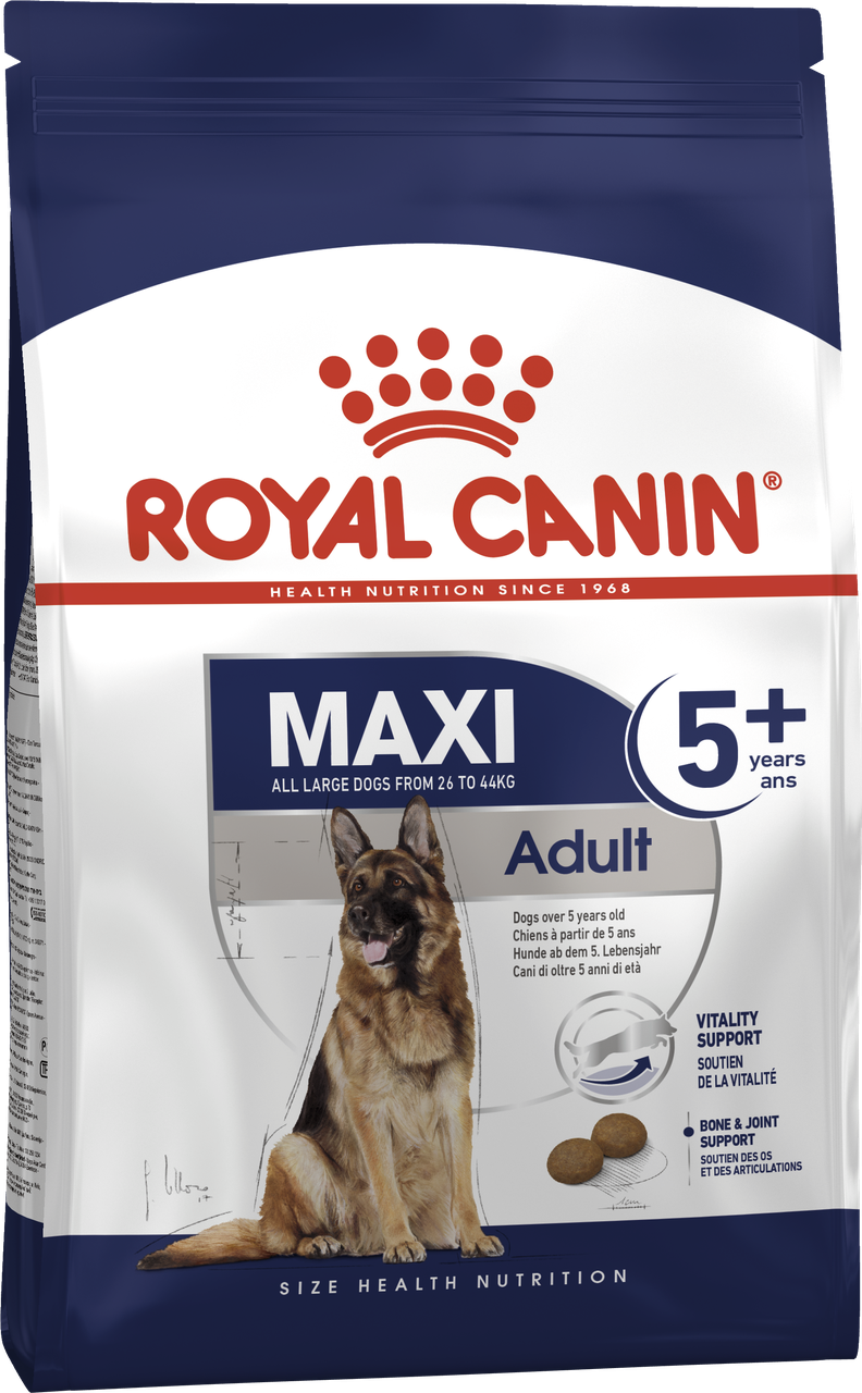 Корм для собак  крупных пород Royal Canin MAXI ADULT 5+ 15 кг