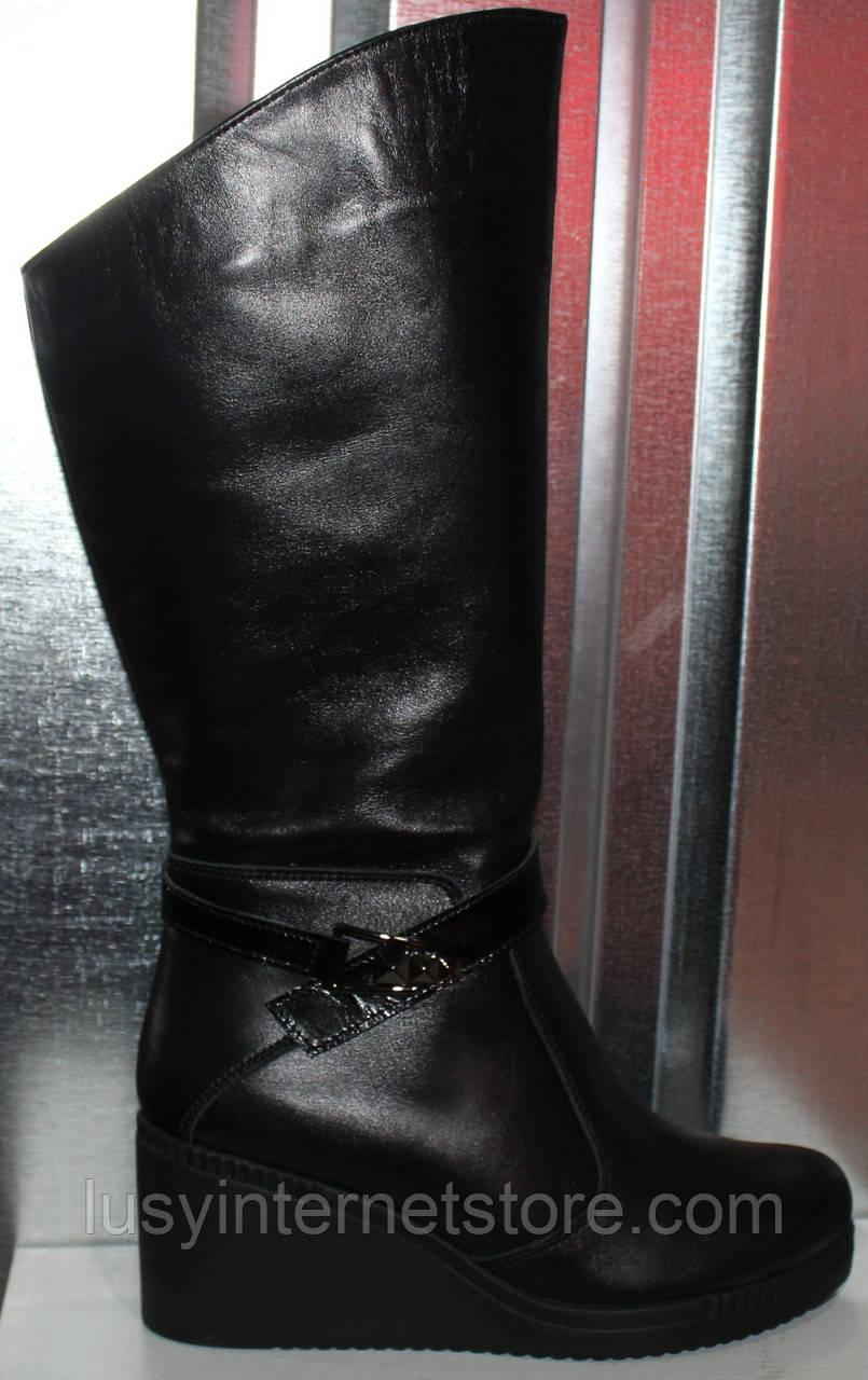 Сапоги женские зимние кожаные на танкетке от производителя модель РИ513-1Т