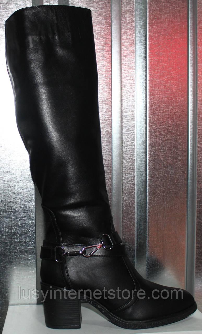 Сапоги женские зимние кожаные на каблуке от производителя модель РИ1113