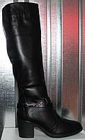 Сапоги женские зимние кожаные на каблуке от производителя модель РИ1113, фото 1