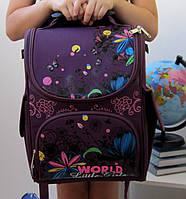 Шкільний ранець каркасний (портфель) кольору марсала  GELIYAZI  (Z-02)
