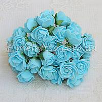 Розы из латекса, 1,5-2 см, голубой
