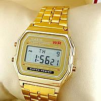 Мужские наручные электронные часы CASIO (Касио), золотой ( код: IBW166Y )