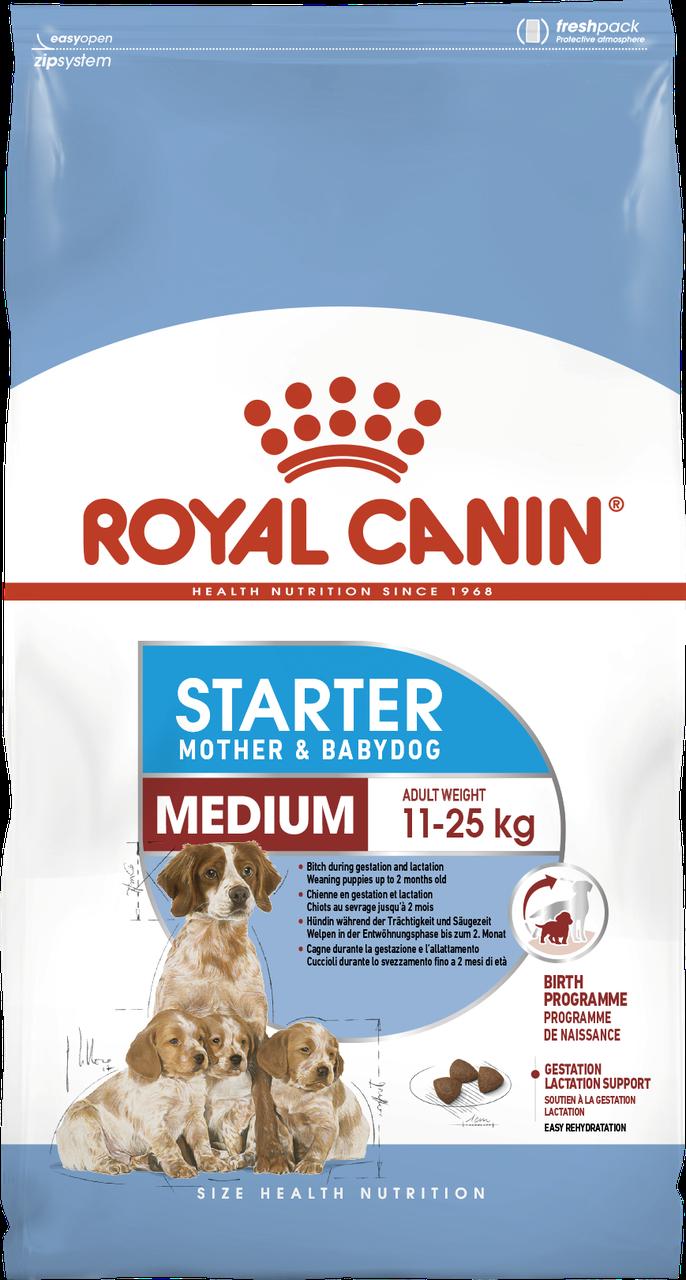 Корм для  щенков и кормящих собак Royal Canin MEDIUM STARTER 12 кг