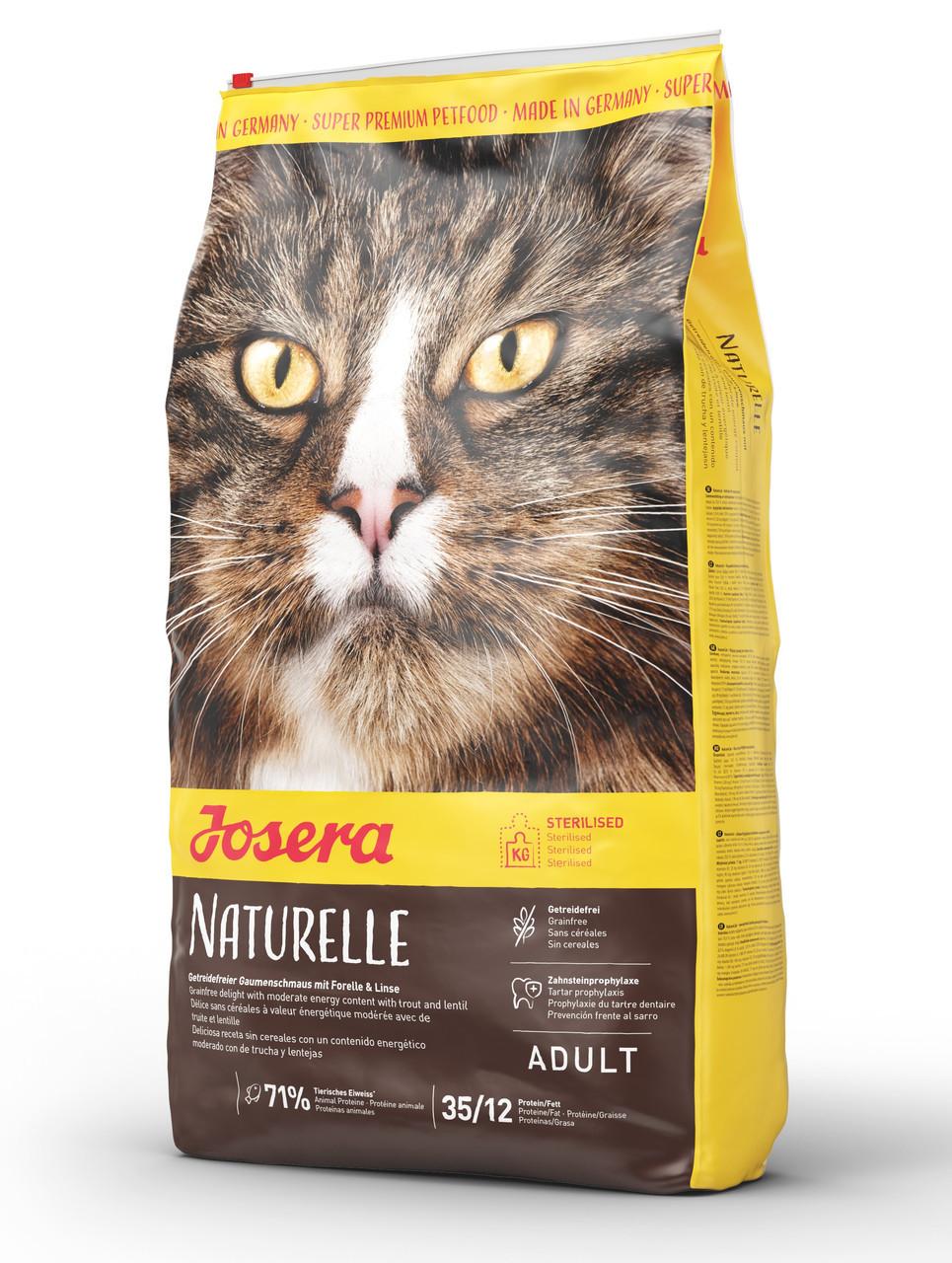 Cухой беззерновой корм для кастрированных и стерилизованных кошек Josera Naturelle Sterilised 10 кг