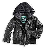Куртка для мальчика из кожзама