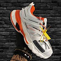 Balenciaga Track White Orange   кроссовки мужские и женские; белые-оранжевые; баленсиага трэк