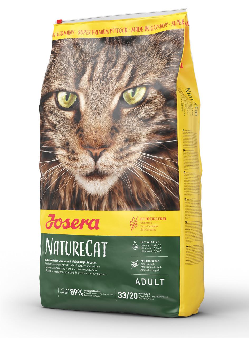 Сухой беззерновой корм для взрослых кошек Josera Nature Cat с домашней птицей и лососем 10 кг