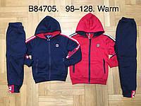 Спортивный утепленный костюм 2 в 1 для мальчика оптом, Grace, 98-128 см,  № B84705, фото 1