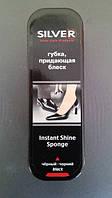 СИЛВЕР Губка для обуви стандарт черная  , фото 1