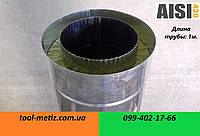 Труба для дымохода утепленная (сэндвич) нерж/цинк: L-0.5 м. D-150/210 мм. толщина: 0.5 мм.