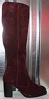 Сапоги замшевые женские зимние на каблуке от производителя модель РИ7917-2, фото 1