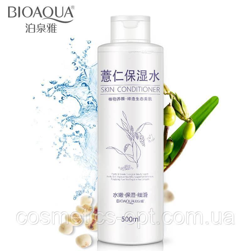 Зволожуючий тонер BIOAQUA для жирної та комбінованої шкіри з екстрактом ячменю, 500 мл