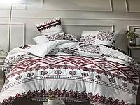 Комплект постельного белья евро из Ранфорс Украинский орнамент