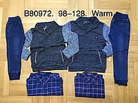 Набор 3 в 1 с начесом для мальчика оптом, Grace, 98-128 см,  № B80972, фото 1