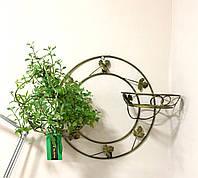 Подвесная подставка для цветов кованая Круг 2