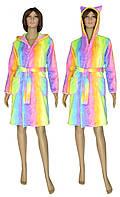 """NEW! Махрові молодіжні халати з вушками - серія халатів """"Райдужний"""" від ТМ УКРТРИКОТАЖ!"""
