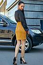 Женская шёлковая чёрная блузка повседневная молодёжная нарядная офисная, фото 5