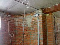 Монтаж проводу перерізом 4-10 мм² в гофротрубі