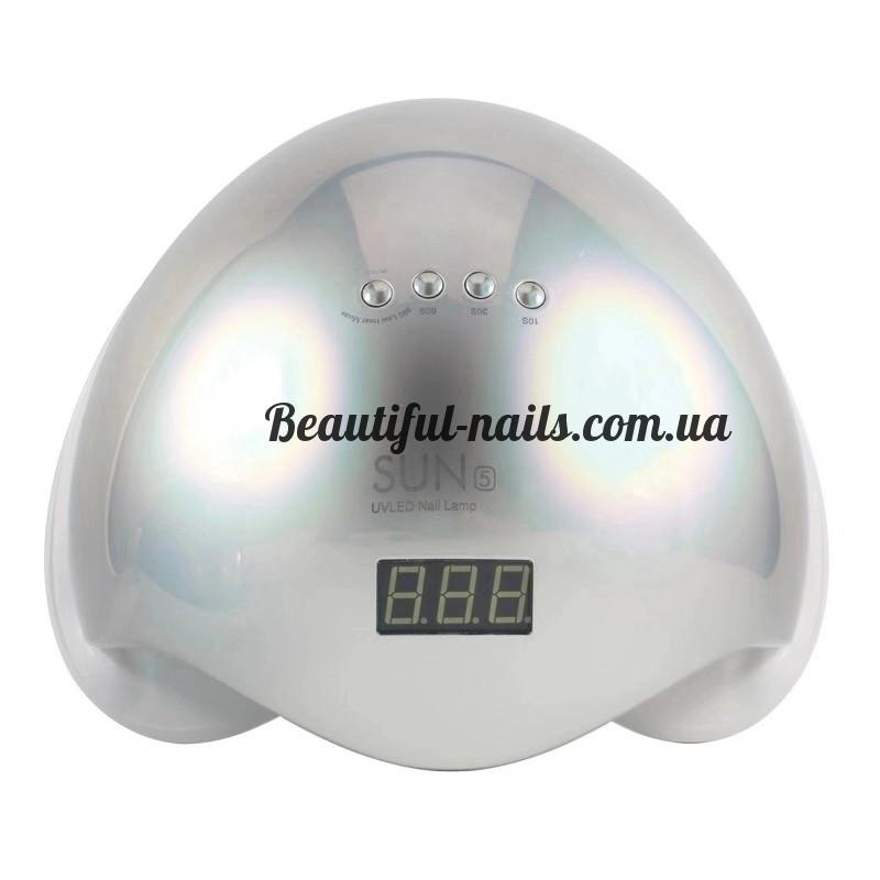 Новинка!Профессиональная LED-лампа для сушки гелей и гель лаков SUN 5 48 вт хамелеон(серебро)