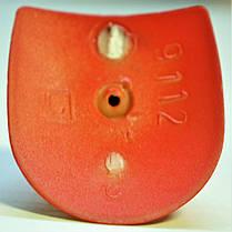 Каблук женский пластиковый 9112 кораловый р.1-3  h-12,0-12,8 см., фото 3