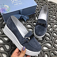Серые туфли на платформеMonako