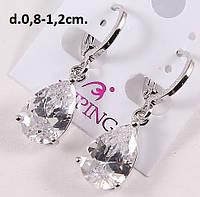 Серьги на каждый день с цирконом в серебре - Xuping ЮС096