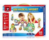 Магнитный конструктор Mini magical magnet 58 дет.