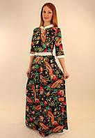 Длинное трикотажное платье 46-52 р