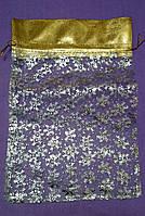 Мешочек для упаковки Новогоднего подарка Прозрачный