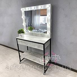 """Передвижной стол для визажиста в стиле """"Лофт"""" на металлических ножках"""