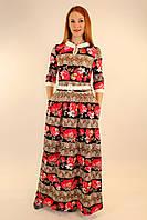 Длинное трикотажное платье 46-50 р