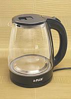 Электрический чайник 2,0 л A-Plus AP-2137-steklo, фото 1