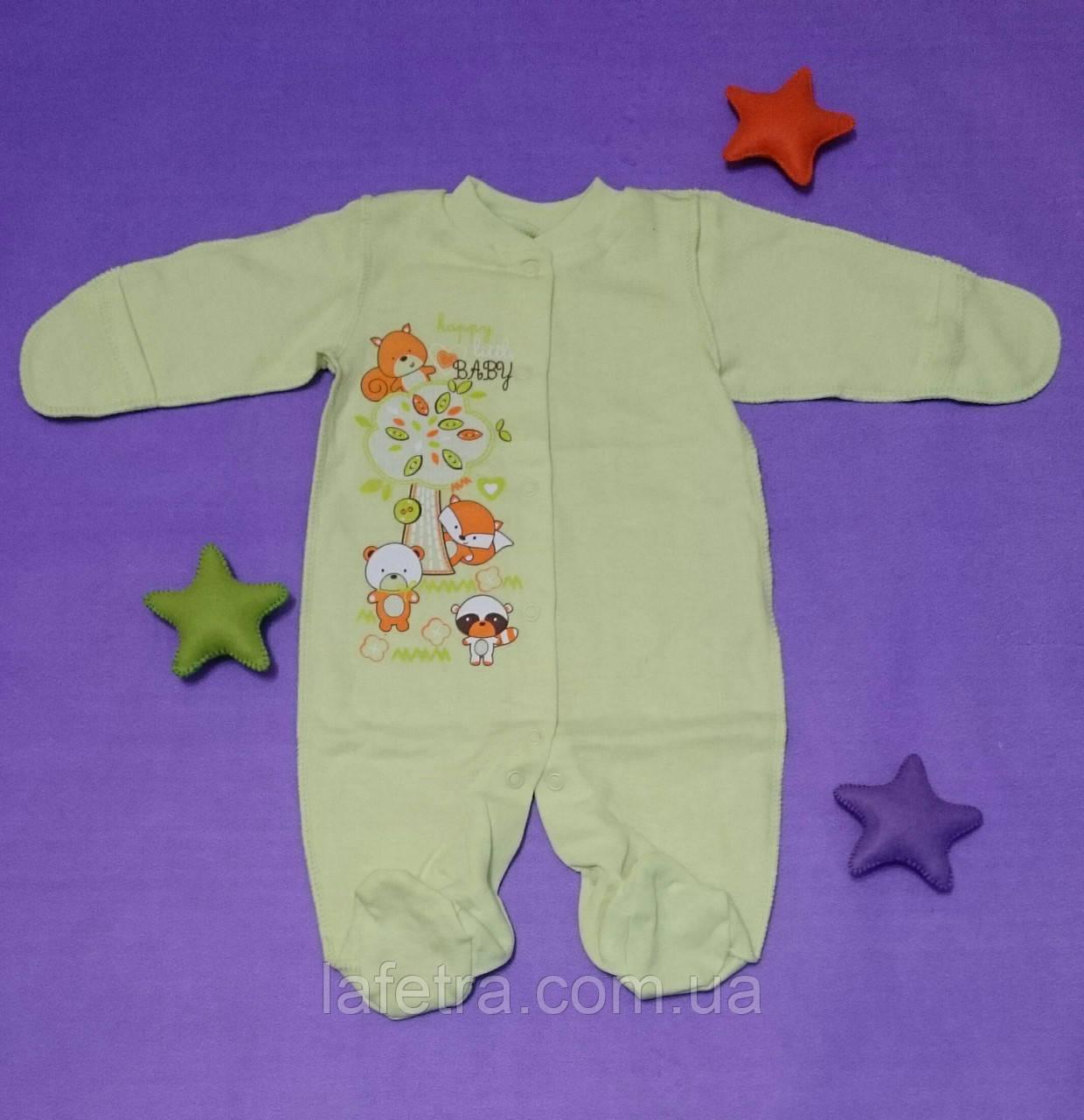Человечки Комбинезоны Слипы Для Новорожденных Детей 0 - 1 мес