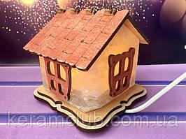 Соляной светильник Домик Керамклуб 12*12*14 см