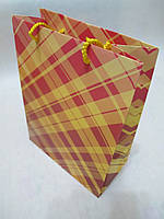 Пакет Для Подарка Бумажный В Клетку 25 х 19 х 9 см