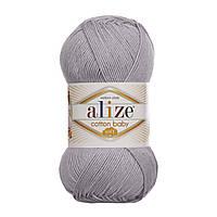 Alize Cotton Baby Soft облачно-серый № 362