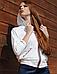 Кофта женская, Ora, рукав летучая мышь, с капюшоном, фото 3
