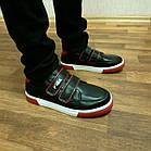 Дитячі кеди хлопчикам, 28 розмір, устілка 17,7 см, темно-сині кросівки туфлі на липучках, фото 2