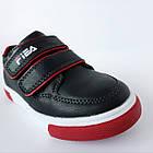 Дитячі кеди хлопчикам, 28 розмір, устілка 17,7 см, темно-сині кросівки туфлі на липучках, фото 3