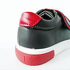 Дитячі кеди хлопчикам, 28 розмір, устілка 17,7 см, темно-сині кросівки туфлі на липучках, фото 7