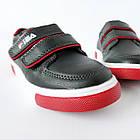 Дитячі кеди хлопчикам, 28 розмір, устілка 17,7 см, темно-сині кросівки туфлі на липучках, фото 10