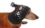 Зимняя шапка для маленькой собаки,шапка для таксы,шапка для собаки до 10 кг, фото 2