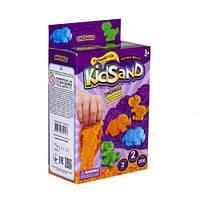 Кинетический песок  KidSand: Динозавры  с формочками,  KS-05-08U, 200 г (укр)