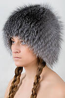 Шапка женская меховая   из меха Блюфрост Vbf  Серый