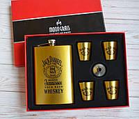 """Подарочный набор Фляга 4 рюмки """" Jack Daniels"""", фото 1"""