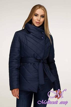 Женская темно-синяя осенняя куртка (р. 44-54) арт. 1199 Тон 18, фото 2