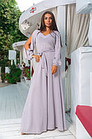 Платье люрексв пол с шикарными воздушными рукавами в семи расцветках